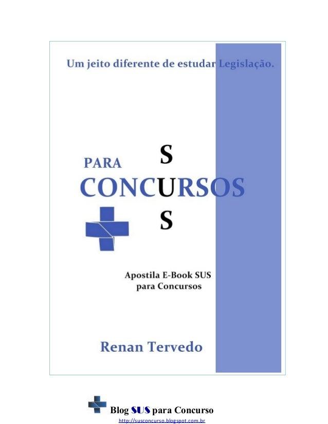 Apostila e book sus para concursos - 2013 - revisada