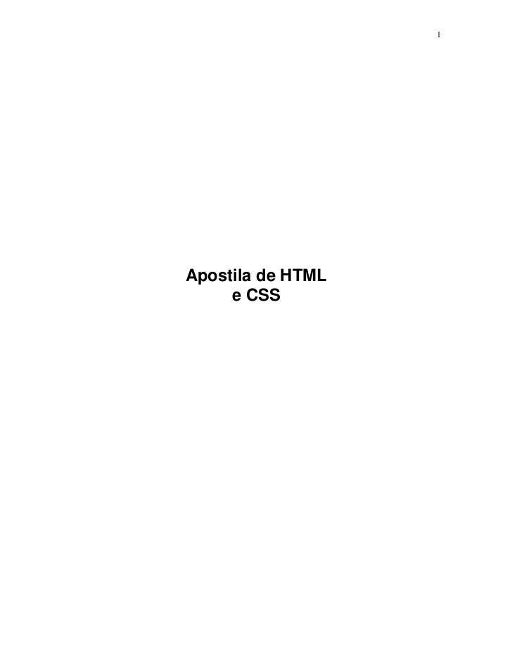 1Apostila de HTML     e CSS