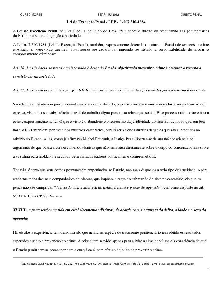 CURSO MORSE                                             SEAP - RJ 2012                                              DIREIT...