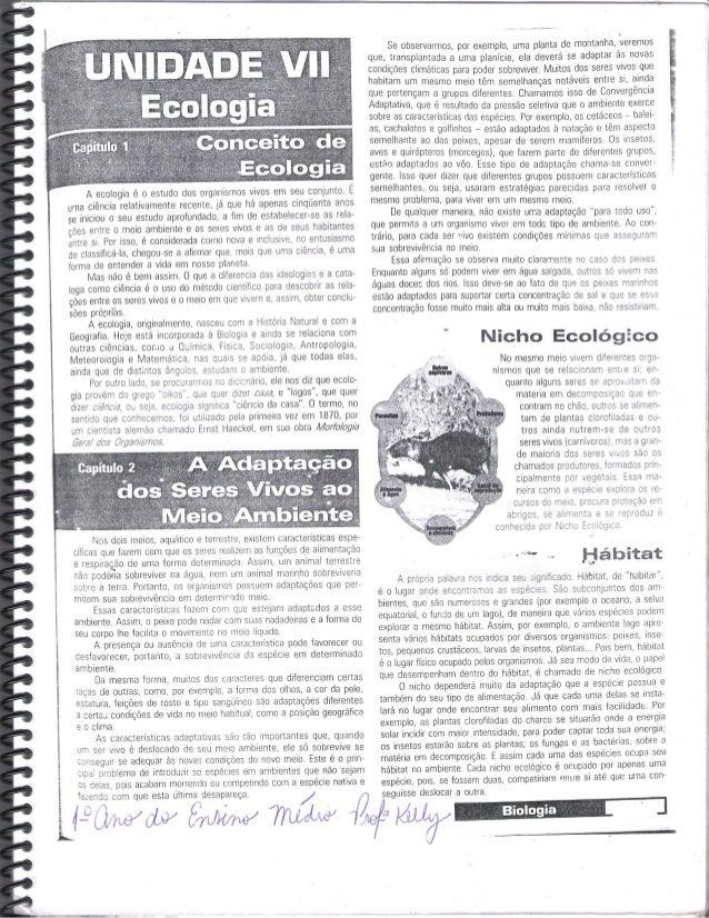 "l i Ê  L       ,  2 .  x 4-"" ; wav cw 8mm/  ?luar/ vw                                               A ecologia é o estudo ..."