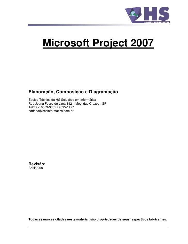 Apostila ms project 2007