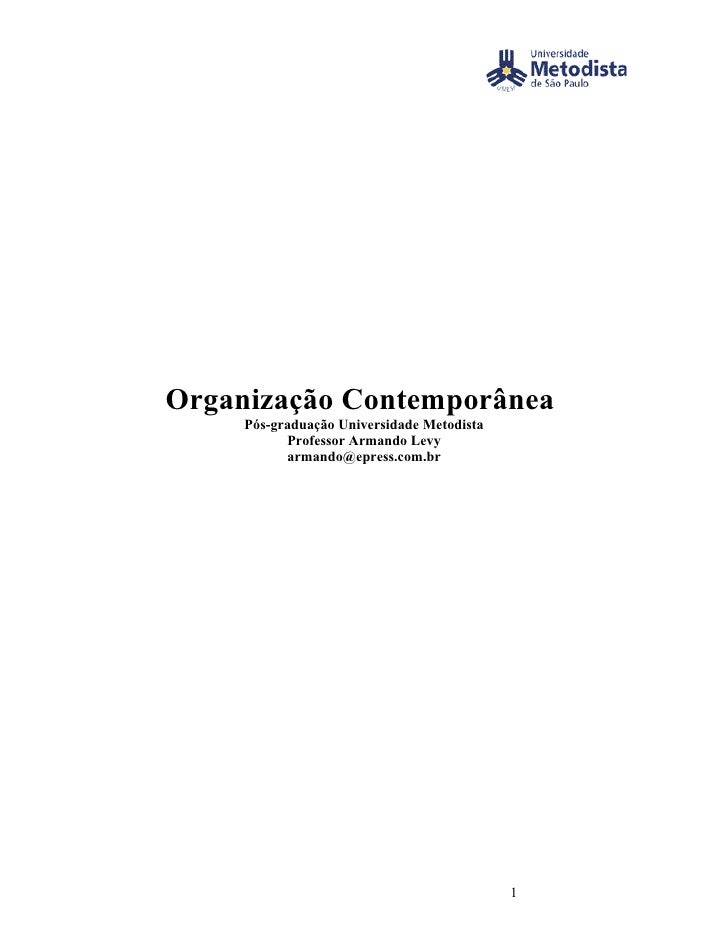 Organização Contemporânea 1