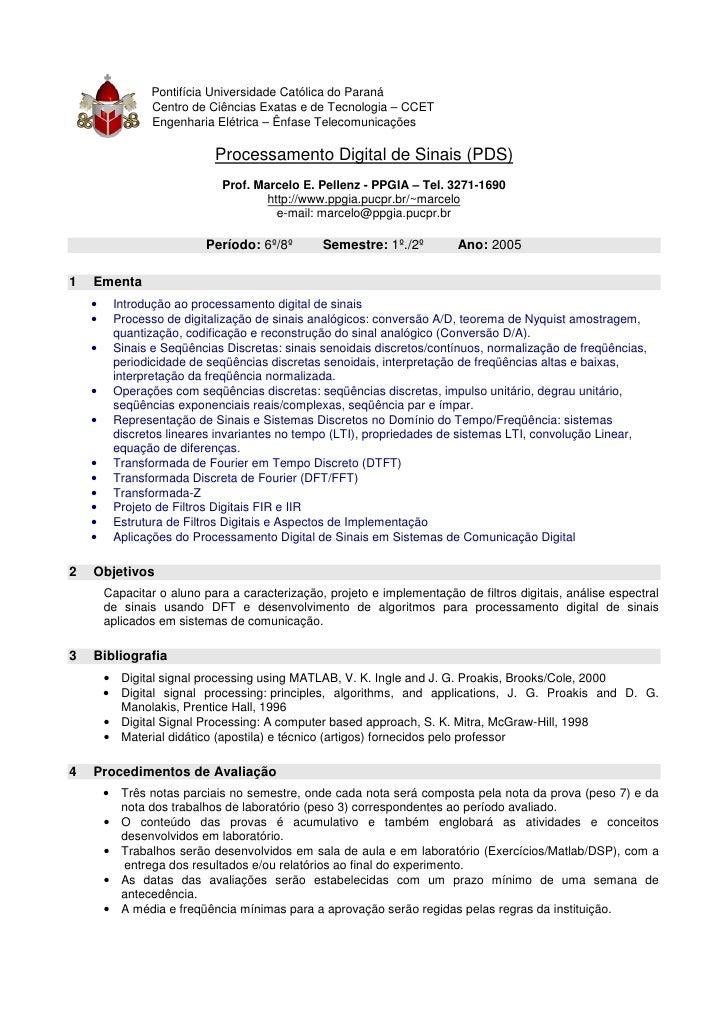 •   Pontifícia Universidade Católica do Paraná              •   Centro de Ciências Exatas e de Tecnologia – CCET          ...