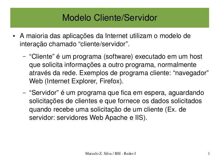 Apostilas   modelo cliente servidor