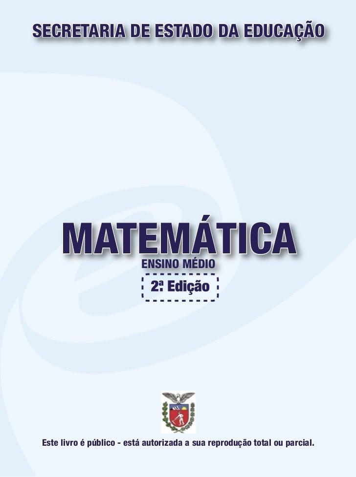 Apostila seed matemática
