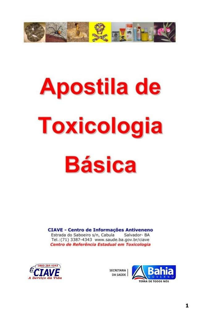 Apostila toxicologia básica