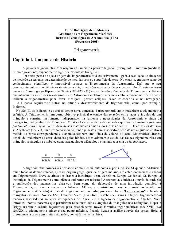 Filipe Rodrigues de S. Moreira                                 Graduando em Engenharia Mecânica –                         ...