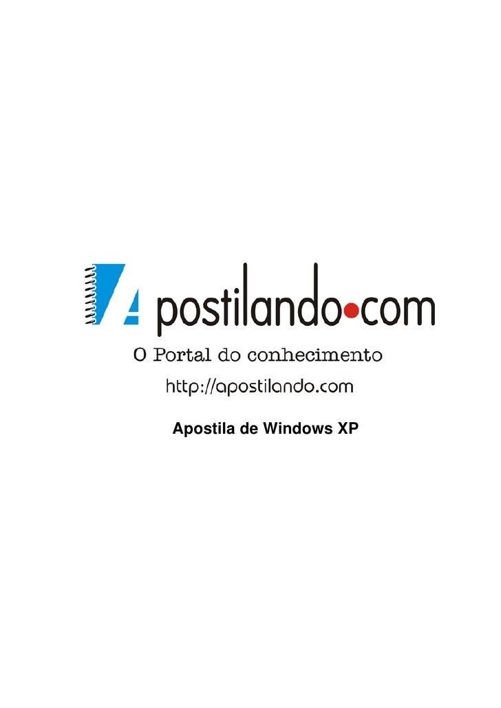 Apostila de Windows XP