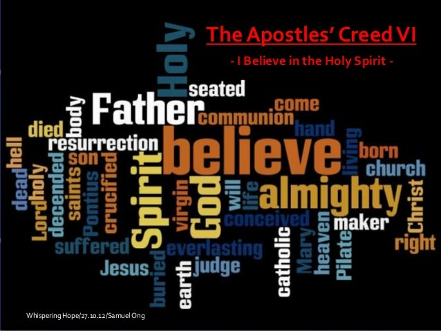 Apostle's creed  holy spirit