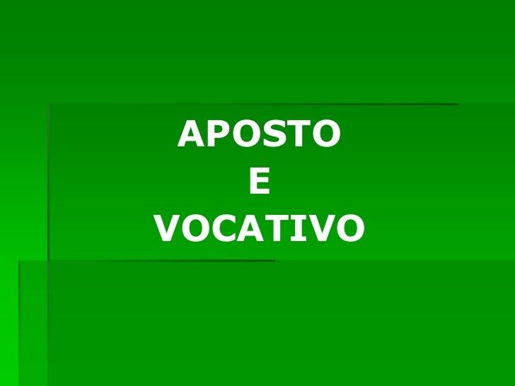 APOSTO    EVOCATIVO