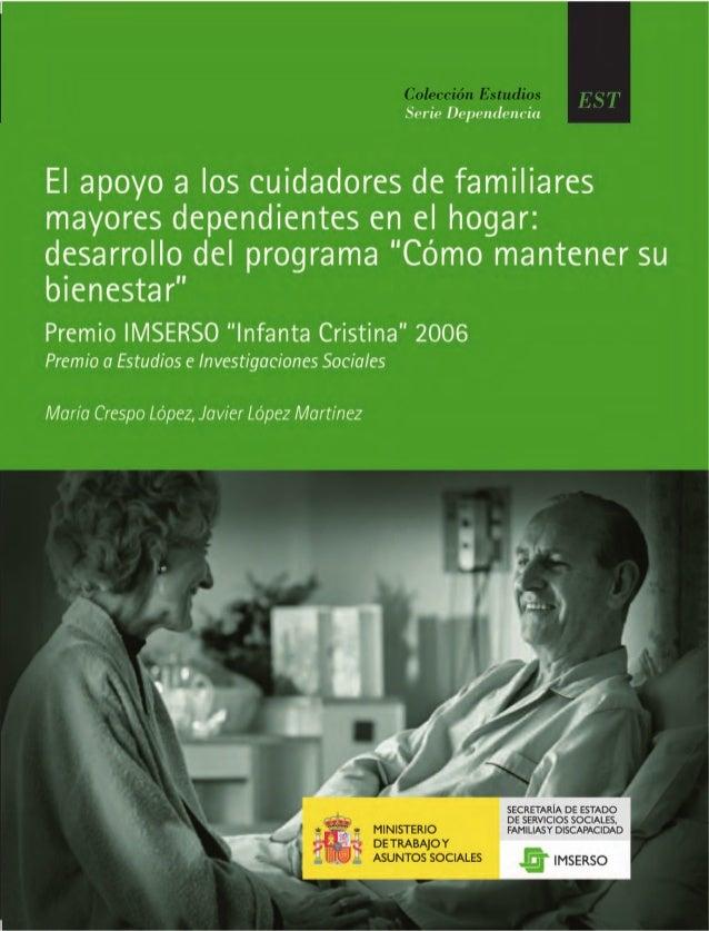 """Premio Imserso """"Infanta Cristina"""" 2006 Premio a Estudios e Investigaciones Sociales María Crespo López Javier López Martín..."""