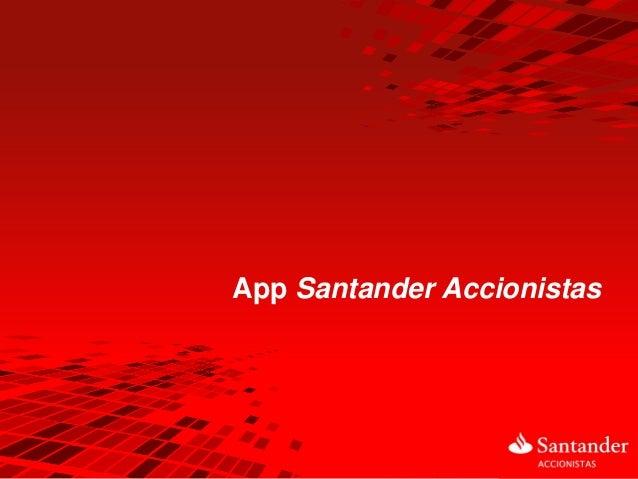 App Santander Accionistas