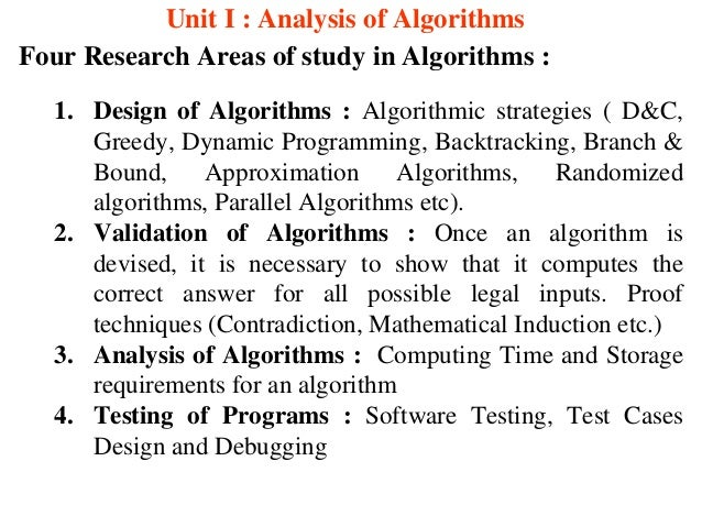 Analysis Of Algorithm Research Paper