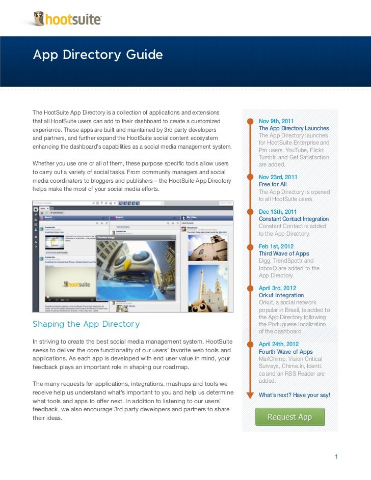 HootSuite App Directory Guide