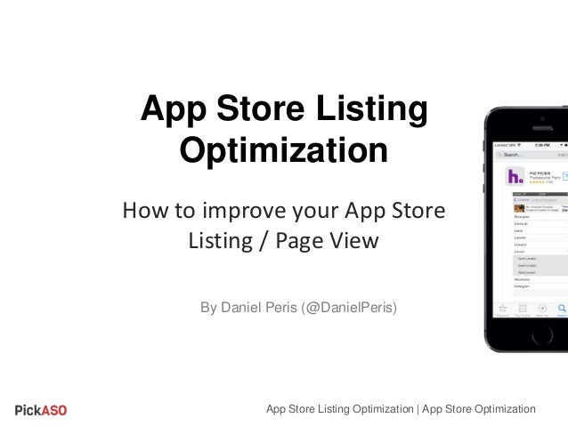 App Store Listing Optimization How to improve your App Store Listing / Page View App Store Listing Optimization | App Stor...