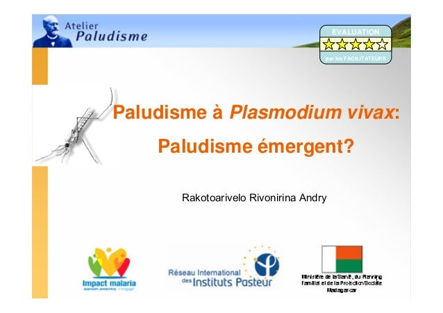 Rakotoarivelo Rivonirina Andry1Paludisme à Plasmodium vivax:Paludisme émergent?EVALUATIONpar les FACILITATEURS