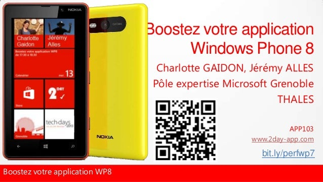 Boostez votre application                                      Windows Phone 8                                  Charlotte ...