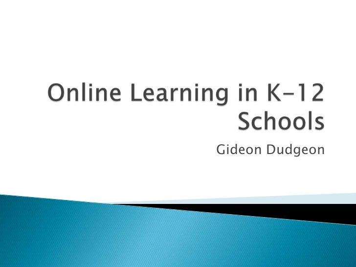 Online Learning K-12