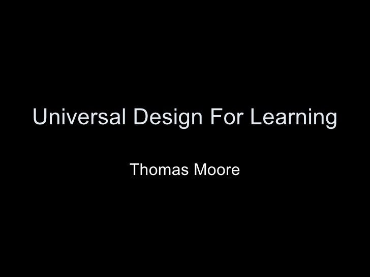 Universal Design For Learning Thomas Moore