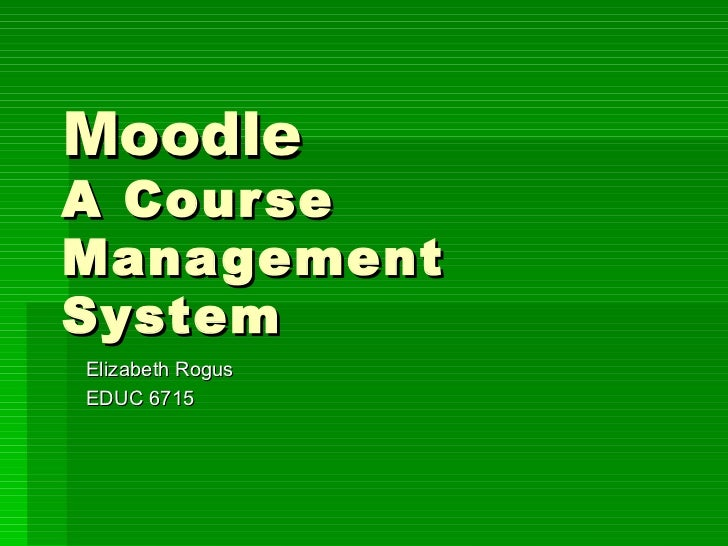 Moodle in the Classroom