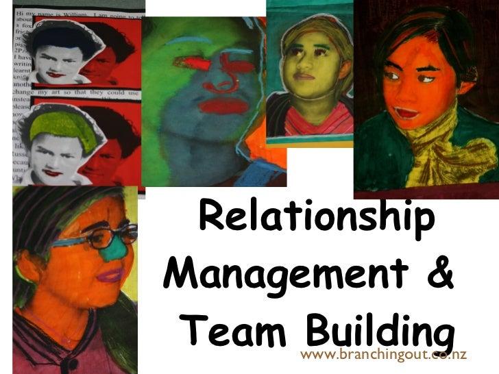 Relationship Management &  Team Building www.branchingout.co.nz