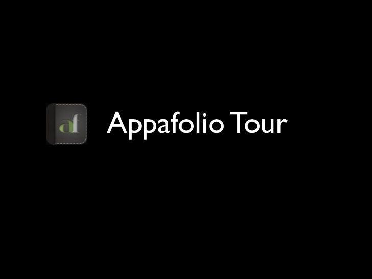 Appafolio Tour Presentation