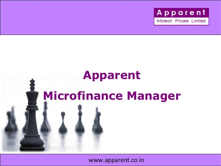 Apparent  Microfinance Manager  www.apparent.co.in