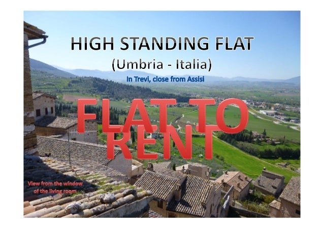 Beautiful Flat to Rent in Umbria (Italy) - full pack