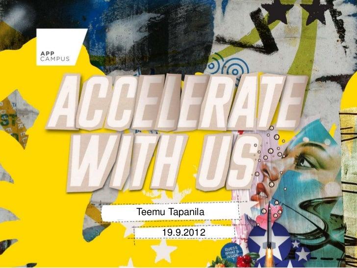 Teemu Tapanila     19.9.2012