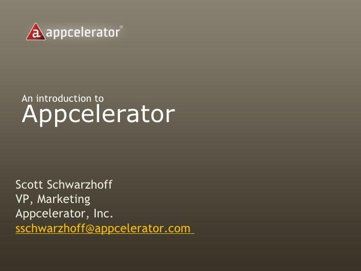 Appcelerator Corporate Overview