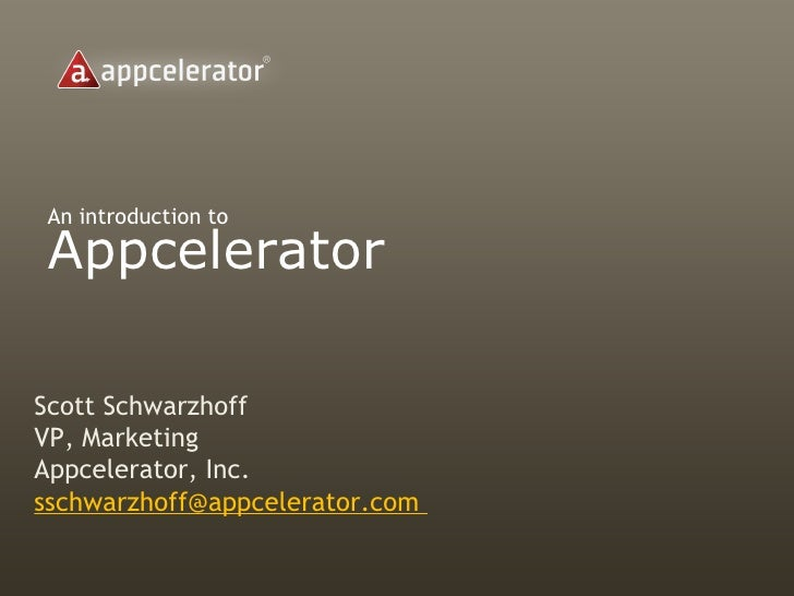 Appcelerator Corporate Overview
