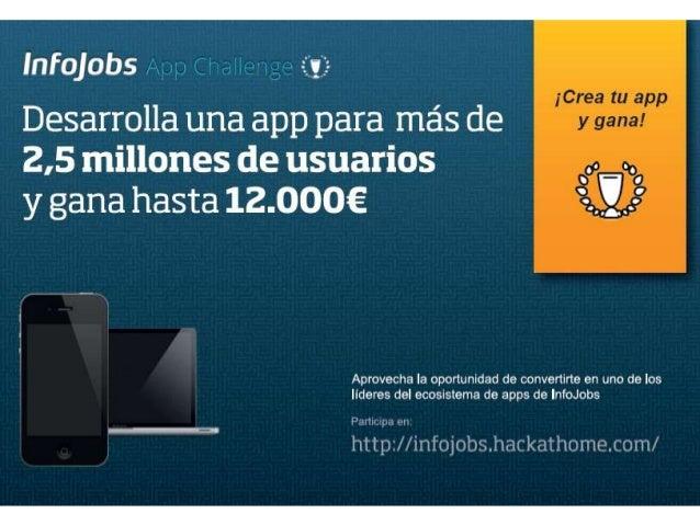2,5 M candidatos40.000 empresas buscando talento1 M puestos de trabajo publicados330.925 contratos cerrados en el 2011221 ...