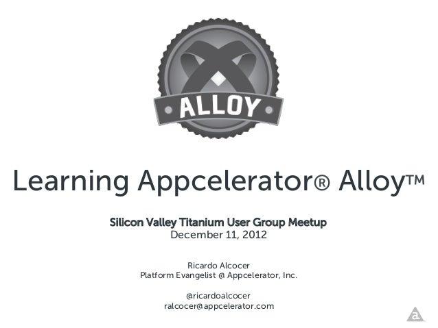 Learning Appcelerator® Alloy™
