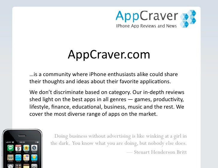 Marketing iPhone Apps on Appcraver