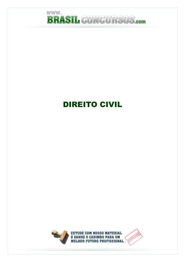 Apostia de Direito Civil Completa