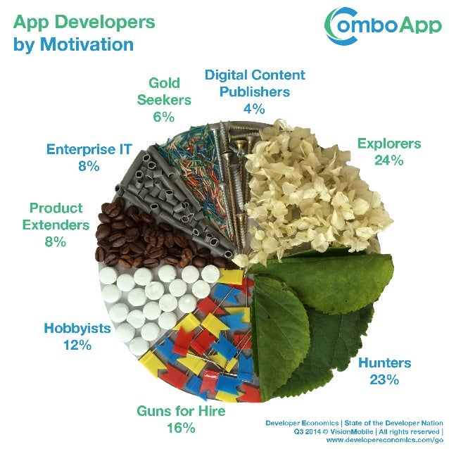 App Developers Segments by Motivation