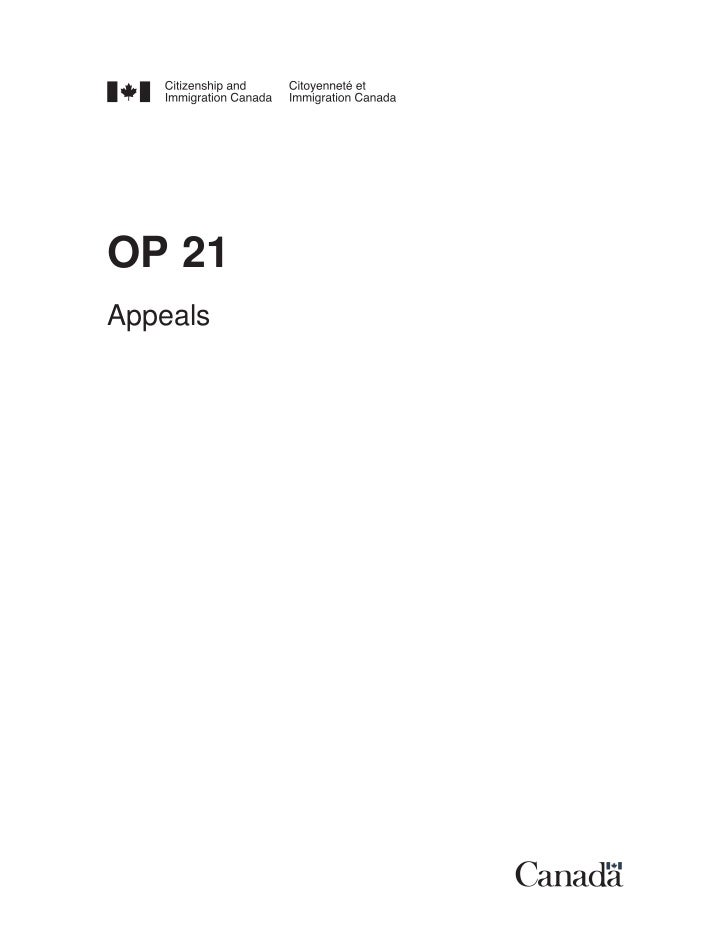 OP 21Appeals