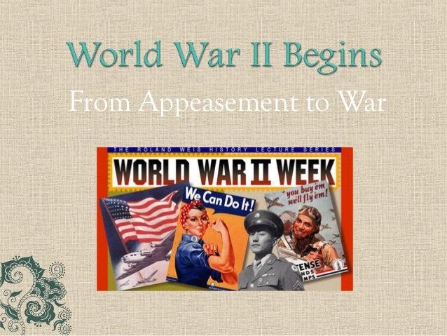 World History - Appeasement