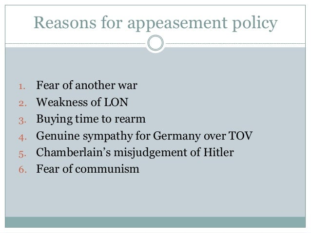 wwii in europe the policy of appeasement. Black Bedroom Furniture Sets. Home Design Ideas