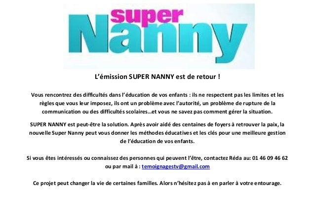 Appel t moins por super nanny nancy - Regle de la maison super nanny ...