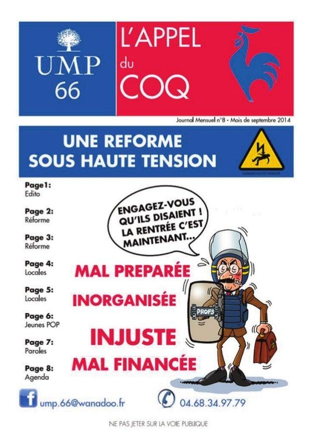 Edito  1  Le sénateur UMP François Calvet  interpelle la ministre de l'Education  Nationale