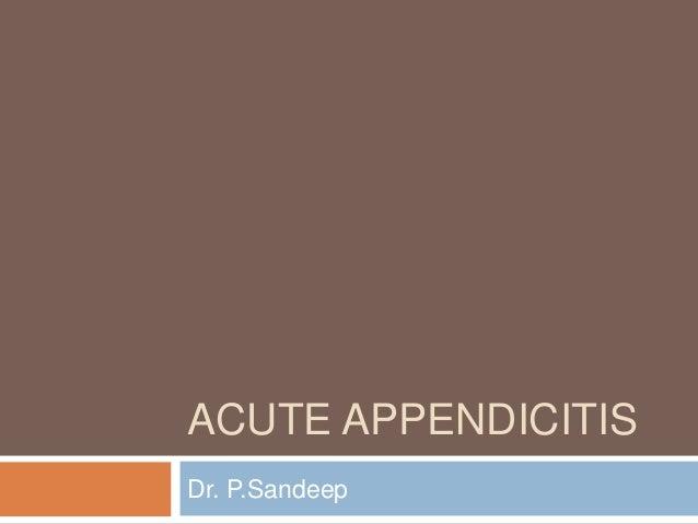 Imaging in Appendicitis