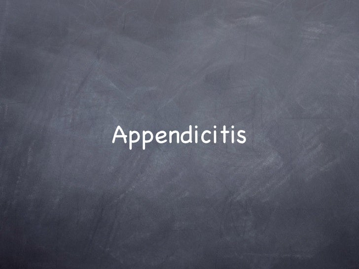 Appendicitis intussusception