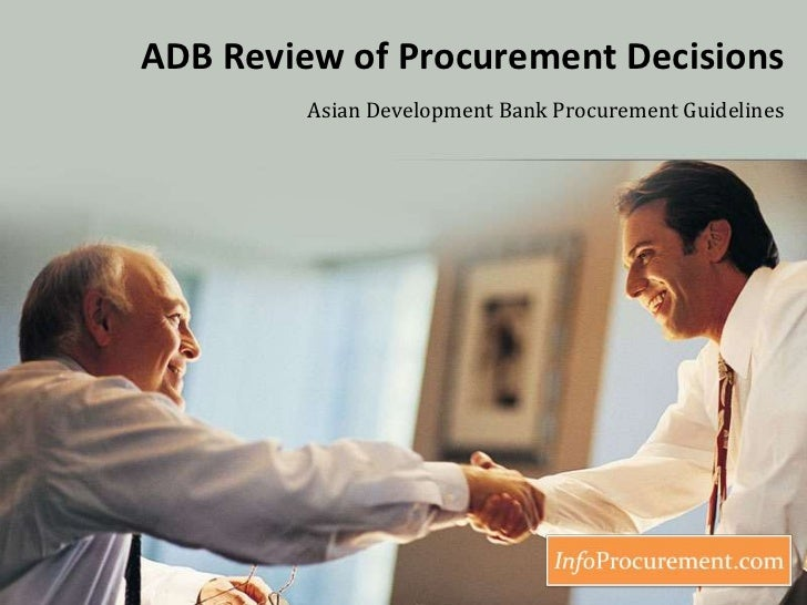 Appendix 1   adb review of procurement decisions