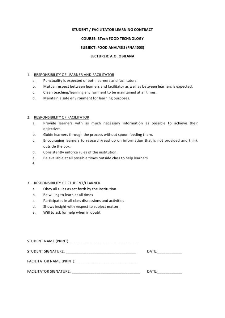 Appendix 14   learning contract