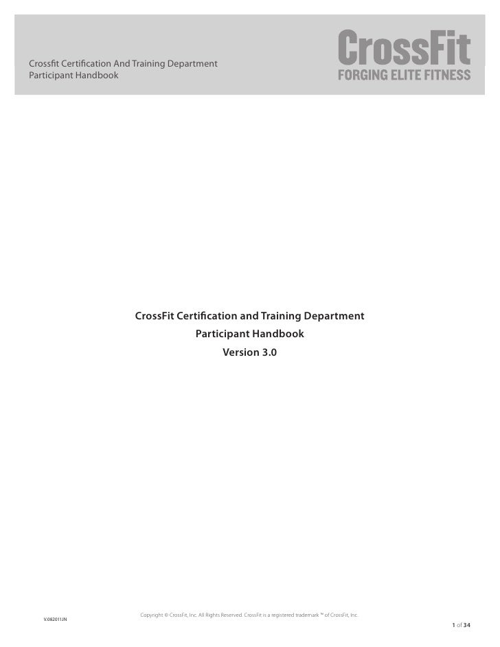 crossfit certification and training department participant handbook                                            version 1....