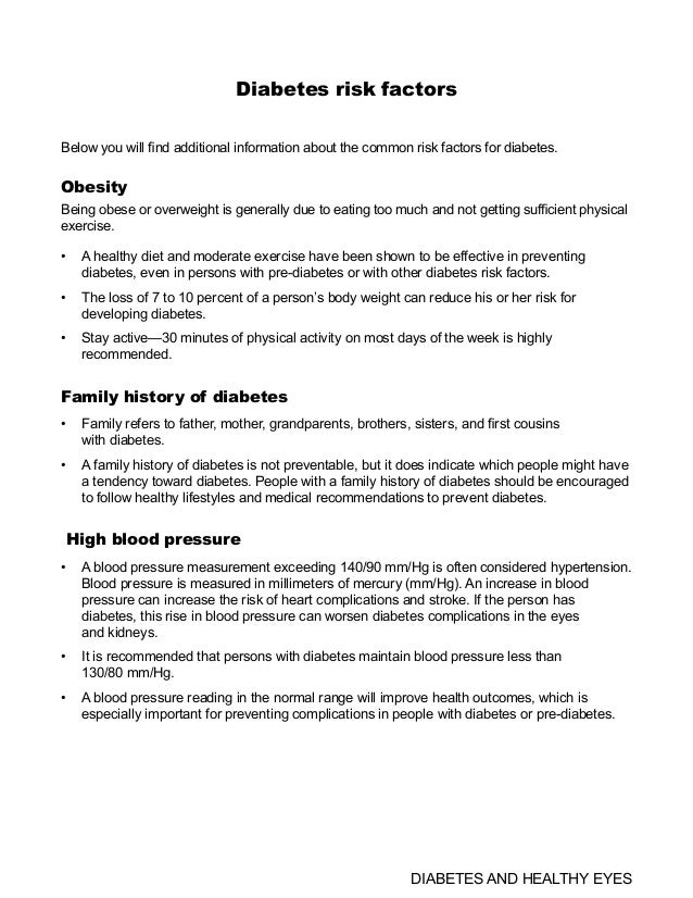 Global Medical Cures™ | DIABETES RISK FACTORS