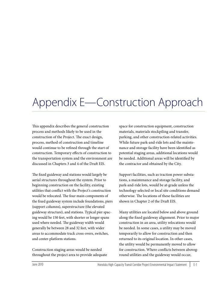 Final EIS Appendix E