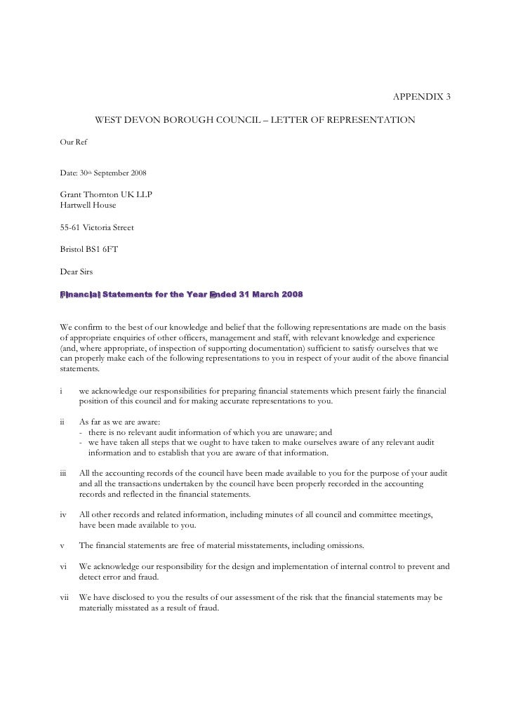Appendix West Devon Borough Council Letter Of Representation Our Ref