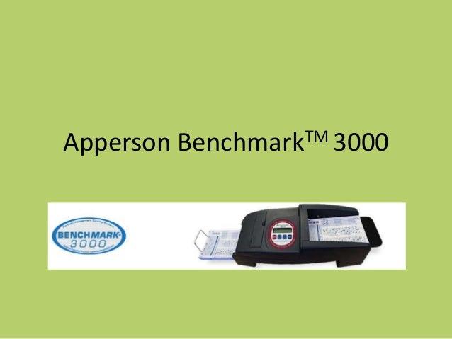 Apperson   Benchmark TM 3000